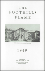 California School for the Deaf - Foothills Flame Yearbook (Berkeley, CA) online yearbook collection, 1949 Edition, Page 5