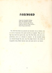 Campbell University - Pine Burr Yearbook (Buies Creek, NC) online yearbook collection, 1954 Edition, Page 6