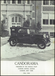 Candor Central High School - Candorama Yearbook (Candor, NY) online yearbook collection, 1955 Edition, Page 5