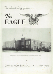 Carver High School - Eagle Yearbook (Salem, VA) online yearbook collection, 1950 Edition, Page 3