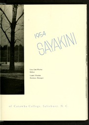 Catawba College - Sayakini / Swastika Yearbook (Salisbury, NC) online yearbook collection, 1954 Edition, Page 7