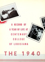 Centenary College of Louisiana - Yoncopin Yearbook (Shreveport, LA) online yearbook collection, 1940 Edition, Page 6