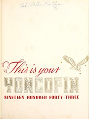 Centenary College of Louisiana - Yoncopin Yearbook (Shreveport, LA) online yearbook collection, 1943 Edition, Page 5