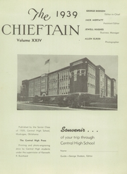 Central High School - Chieftain Yearbook (Muskogee, OK) online yearbook collection, 1939 Edition, Page 5