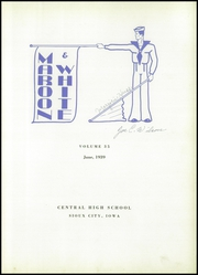 Central High School - Maroon and White Yearbook (Sioux City, IA) online yearbook collection, 1939 Edition, Page 7
