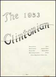 Clinton High School - Clintonian Yearbook (Clinton, IA) online yearbook collection, 1953 Edition, Page 5