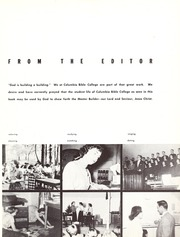 Columbia Bible College - Finial Yearbook (Columbia, SC) online yearbook collection, 1956 Edition, Page 7