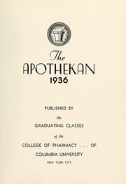 Columbia University College of Pharmacy - Apothekan Yearbook (New York, NY) online yearbook collection, 1936 Edition, Page 7