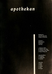 Columbia University College of Pharmacy - Apothekan Yearbook (New York, NY) online yearbook collection, 1952 Edition, Page 5