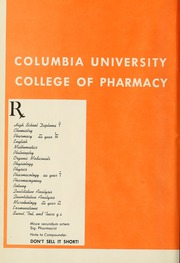 Columbia University College of Pharmacy - Apothekan Yearbook (New York, NY) online yearbook collection, 1960 Edition, Page 6