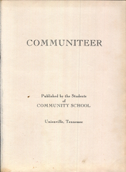 Community High School - Communiteer Yearbook (Unionville, TN) online yearbook collection, 1955 Edition, Page 7