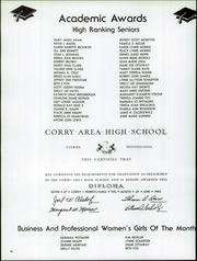 Corry Area High School - Corrian Yearbook (Corry, PA) online yearbook collection, 1982 Edition, Page 72