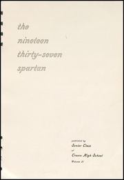Cresco High School - Spartan Yearbook (Cresco, IA) online yearbook collection, 1937 Edition, Page 5