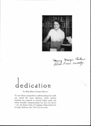 Culpeper County High School - Colonnade Yearbook (Culpeper, VA) online yearbook collection, 1939 Edition, Page 6 of 48