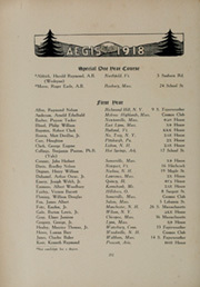 Dartmouth College - Aegis Yearbook (Hanover, NH) online yearbook collection, 1918 Edition, Page 216