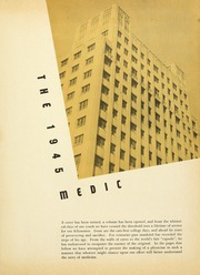 Drexel University College of Medicine - Hahnemann Medic Yearbook (Philadelphia, PA) online yearbook collection, 1945 Edition, Page 5