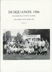 Duanesburg High School - Dusquanox Yearbook (Delanson, NY) online yearbook collection, 1986 Edition, Page 5