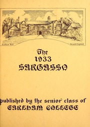 Earlham College - Sargasso Yearbook (Richmond, IN) online yearbook collection, 1933 Edition, Page 7