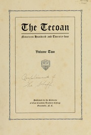East Carolina University - Buccaneer Tecoan Yearbook (Greenville, NC) online yearbook collection, 1924 Edition, Page 5