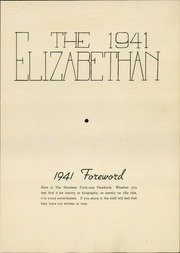 Elizabethtown Area High School - Elizabethan Yearbook (Elizabethtown, PA) online yearbook collection, 1941 Edition, Page 5