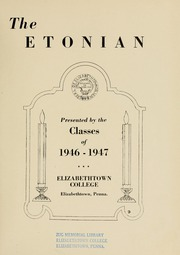 Elizabethtown College - Conestogan / Etonian Yearbook (Elizabethtown, PA) online yearbook collection, 1946 Edition, Page 7 of 108