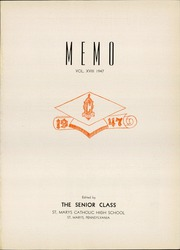 Elk County Catholic High School - Memories Yearbook (St Marys, PA) online yearbook collection, 1947 Edition, Page 5