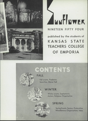 Emporia State University - Sunflower Yearbook (Emporia, KS) online yearbook collection, 1954 Edition, Page 7