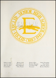 Page 7, 1955 Edition, Euclid High School - Euclidian Yearbook (Euclid, OH) online yearbook collection