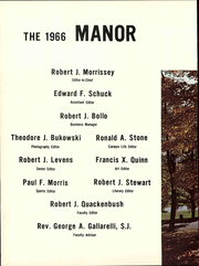 Page 8, 1966 Edition, Fairfield University - Manor Yearbook (Fairfield, CT) online yearbook collection