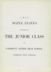 Page 7, 1937 Edition, Fairmont High School - Maple Leaves Yearbook (Fairmont, WV) online yearbook collection