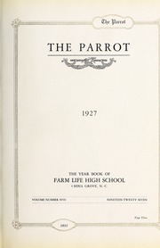 Page 7, 1927 Edition, Farm Life High School - Parrot Yearbook (China Grove, NC) online yearbook collection