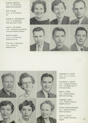 Page 17, 1957 Edition, Fern Creek High School - Tiger Yearbook (Louisville, KY) online yearbook collection