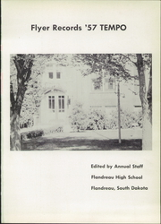 Flandreau High School - Flyer Yearbook (Flandreau, SD) online yearbook collection, 1957 Edition, Page 5 of 68