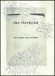 Page 9, 1945 Edition, Flathead High School - Flathead Yearbook (Kalispell, MT) online yearbook collection