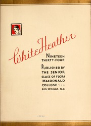 Page 7, 1934 Edition, Flora Macdonald College - White Heather Yearbook (Red Springs, NC) online yearbook collection