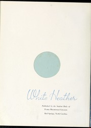 Page 6, 1944 Edition, Flora Macdonald College - White Heather Yearbook (Red Springs, NC) online yearbook collection