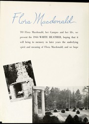 Page 8, 1944 Edition, Flora Macdonald College - White Heather Yearbook (Red Springs, NC) online yearbook collection