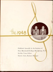 Page 6, 1948 Edition, Flora Macdonald College - White Heather Yearbook (Red Springs, NC) online yearbook collection