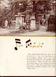 Page 8, 1948 Edition, Flora Macdonald College - White Heather Yearbook (Red Springs, NC) online yearbook collection
