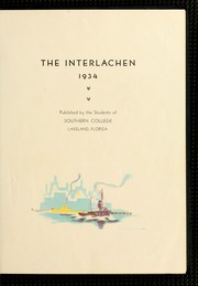 Page 7, 1934 Edition, Florida Southern College - Interlachen Yearbook (Lakeland, FL) online yearbook collection