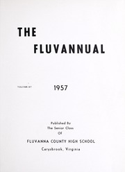 Fluvanna County High School - Fluvannual Yearbook (Carysbrook, VA) online yearbook collection, 1957 Edition, Page 5 of 88