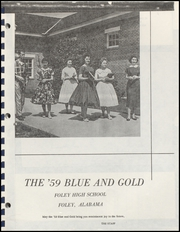 Page 9, 1959 Edition, Foley High School - Blue and Gold Yearbook (Foley, AL) online yearbook collection