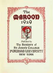 Page 7, 1929 Edition, Fordham University - Maroon Yearbook (New York, NY) online yearbook collection