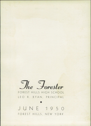 Page 7, 1950 Edition, Forest Hills High School - Forester Yearbook (Forest Hills, NY) online yearbook collection
