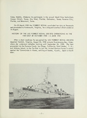 Page 11, 1951 Edition, Forrest Royal (DD 872) - Naval Cruise Book online yearbook collection