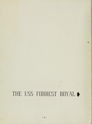 Page 6, 1951 Edition, Forrest Royal (DD 872) - Naval Cruise Book online yearbook collection