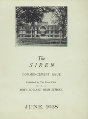 Fort Edward High School - Siren Yearbook (Fort Edward, NY) online yearbook collection, 1938 Edition, Page 3 of 28