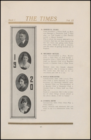 Fort Madison High School - Madisonian Yearbook (Fort Madison, IA) online yearbook collection, 1920 Edition, Page 21