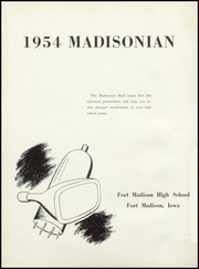 Page 6, 1954 Edition, Fort Madison High School - Madisonian Yearbook (Fort Madison, IA) online yearbook collection