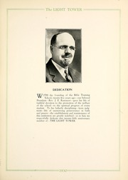 Page 7, 1930 Edition, Fort Wayne Bible College - Light Tower Yearbook (Fort Wayne, IN) online yearbook collection